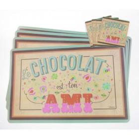 Tányéralátét Chocolat