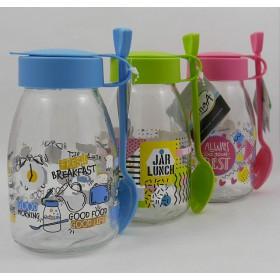 Joghurtos üveg kanállal 370 ml