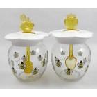 Méz- és dzsemtartó üveg, 2 db-os szett