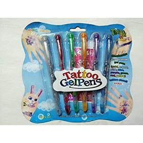 Tetováló toll szett csillámos